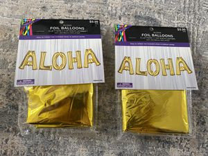 New 2 sets Aloha foil balloons for Sale in Boiling Springs, SC