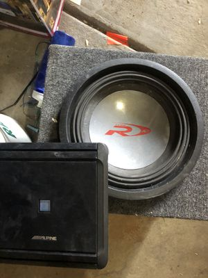 10 sub and 4 channel amplifier for Sale in Denver, CO