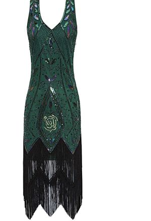 Size S Women's 1920s Vintage Flapper Fringe Beaded Great Gatsby Party Dress for Sale in Los Angeles, CA