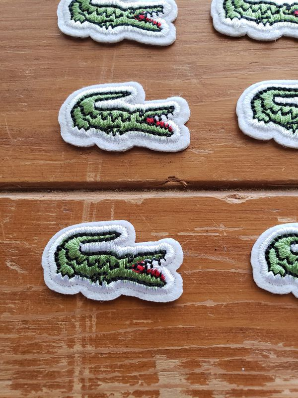 Lacoste patch lot of 20 iron on