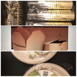 Disposable flutes, plates, take-out containers.... for Sale in Las Vegas, NV
