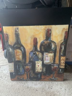 Wine canvas home decor for Sale in Powell, OH