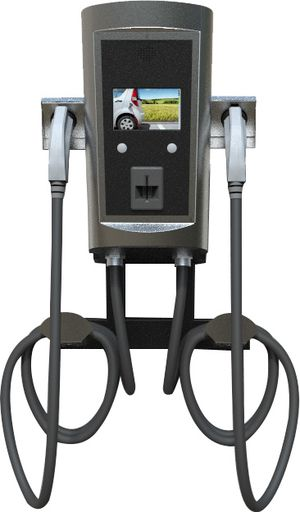 Dual electric car charger wall mount station by BTC power for Sale in Los Angeles, CA