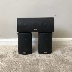 RCA Home Theater Center Channel Speaker and Surround Speakers for Sale in Mount Prospect, IL