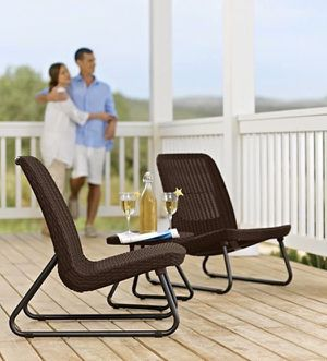 Keter Rio Rattan Outdoor Patio Garden Furniture Sillas Waterproof Set - Brown 17197637 for Sale in Miami, FL