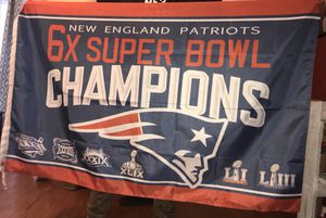 New patriots super bowl champs flag (3x5 ft) for Sale in Clarksville, TN