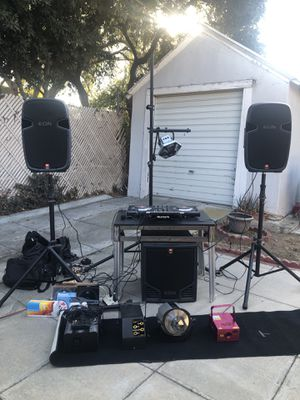 Live DJ Equipment - Mixer/2 speakers/sub/lights and more! for Sale in Hollywood, CA