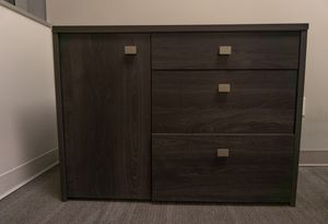 1-Door Office Storage Unit with File Drawer, Gray Oak for Sale in San Diego, CA