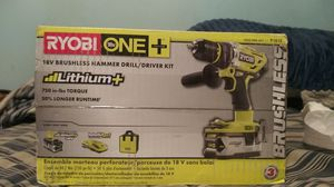 Ryobi P1813 18-Volt ONE+ Brushless Hammer Drill Kit-- New & STILL SEALED! for Sale in Seattle, WA