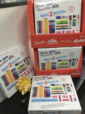 NEW 37 count back 2 school sharpie expo paper mate Elmer's glue pencil high lighter dry erase marker ruler school kit for Sale in Pico Rivera, CA