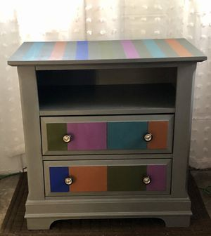 Fun, one of a kind custom painted small dresser for Sale in Baltimore, MD