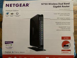 Netgear N750 Wireless Dual Band Gigabit Router for Sale in Riverside, IL
