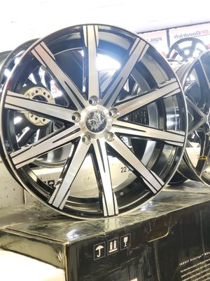 "20"" 20x8.5 20x10 Black Machine Wheels Rims 5x120 BMW 72.6 Tires Available Eazy FINANCING 100 days same as cash every one gets approved! Guaranteed for Sale in Bellflower, CA"