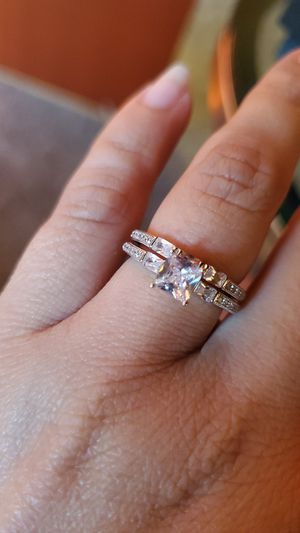 Sterling silver engagement wedding ring set for Sale in Los Angeles, CA