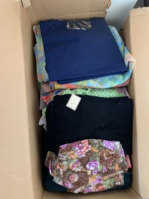 Free box of sewing fabric for Sale in Manteca, CA