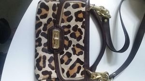 Coach leopard AWESOME PURPLE LINING for Sale in Tampa, FL
