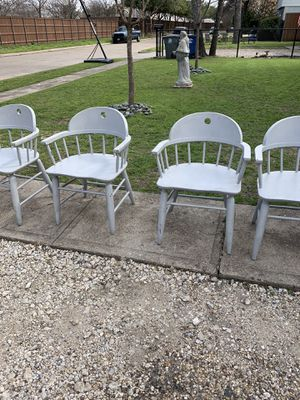 Chairs - 4-wooden for Sale in Dallas, TX