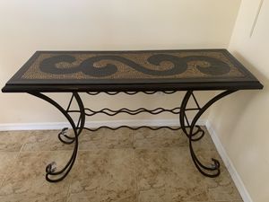 Bar / Buffet Table with Wine Rack - Brown / Espresso for Sale in Dania Beach, FL