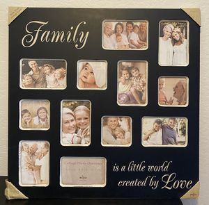 Brand new photo frame family picture frame collage frame wall art home decor hanging wall frames photographs for Sale in Mission Viejo, CA