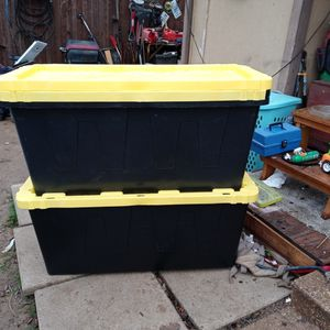 3 Heavy Duty 55 Gal Storage Totes for Sale in North Richland Hills, TX