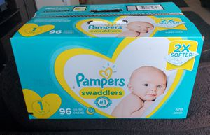 Pampers diapers size 1 for Sale in Renton, WA