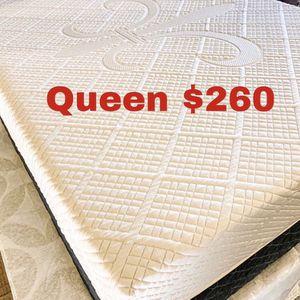 💥Brand new Blue Gel Memory Foam Mattress💥 Queen Mattress only-$260 Mattress & box spring-$320 Full Mattress only-$235 Mattress & box spring-$295 for Sale in Rancho Dominguez, CA
