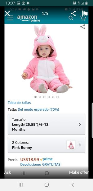 New brand baby bunny costume/ outfit 6-12 months for Sale in San Antonio, TX