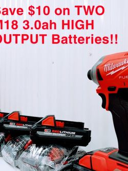 NEW!! Milwaukee M18 18-Volt 3.0ah Battery Pack 48-11-1835 for Sale in Chantilly,  VA