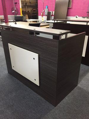 Elm reception desk 60 by 30 for Sale in West Palm Beach, FL