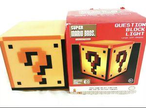 Nintendo Super Mario Bros. Collectors Edition Question Block Light, New, Sounds! for Sale in Fresno, CA