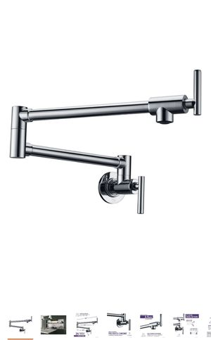 Kitchen Faucet, Braccia Series 24 in. Wall Mounted Potfiller in Polished Chrome for Sale in Miami, FL