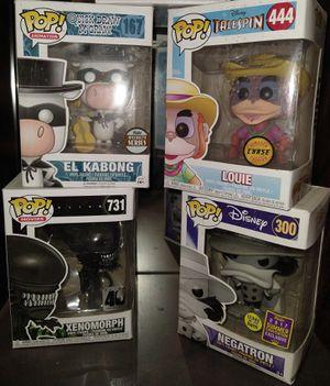 Funko Pop: El Kabong 167; Louie 444; Xenomorph 731; Megatron 300 for Sale in El Paso, TX