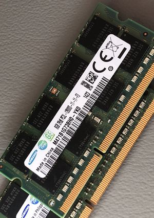 SAMSUNG 16GB (2 X 8GB) DDR3 LAPTOP MEMORY / RAM for Sale in Irving, TX