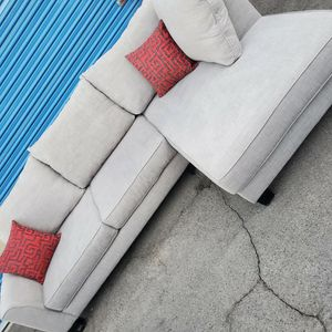 Comfortable Sectional Couch Light Gray, 2 Pieces,Like New for Sale in Glendale, AZ