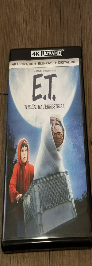 E.T. The Extra-Terrestrial (4k Ultra HD Blu-Ray, 2017, 2-Disc Set 35th Anniv) for Sale in Denver, CO