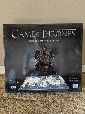 Puzzle of Westeros Game of Thrones for Sale in Kirkland, WA