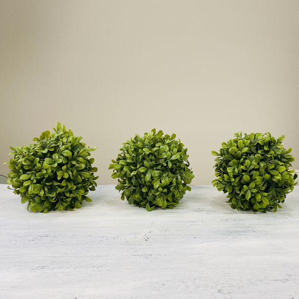 Set of 3 artificial plant ball shape