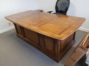 Oak antique desk. 7 feet long for Sale in Miami, FL