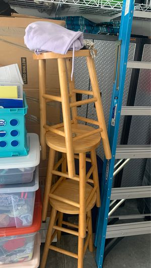 3 wooden stools for Sale in Orlando, FL
