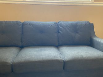 Break A Way Couch - Spot On Middle Cushion Was Water From Spot Cleaning. Not A Stain for Sale in Roseville,  MI