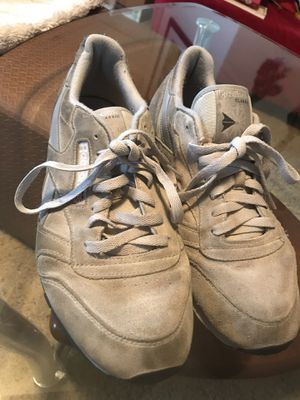 Grey men's suede Reebok classic shoes size 10.5 for Sale in Austin, TX