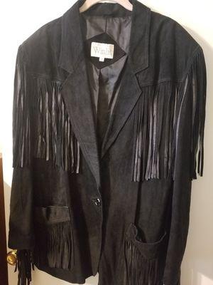 WOMEN'S Leather fringed Winlit jacket Coat for Sale in Stockton, CA