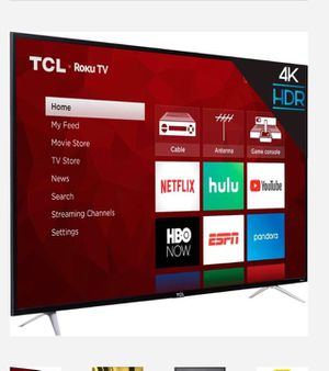 """TCL 65"""" Class 4K (2160P) HDR Roku Smart LED TV (65S401) Factory Refurbished-LEASING available for Sale in Dallas, TX"""