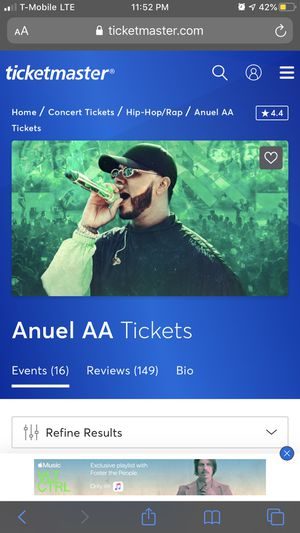 Anuel AA Concert Tickets! for Sale in Hayward, CA