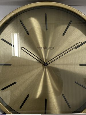 Gold with black wall clock for your office, room, home, decoration for Sale in Las Vegas, NV