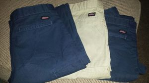 Boy bundle size 12 husky dickies uniform pants for Sale in Waterloo, IA