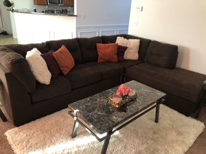 Ashely furniture Sectional + Tables(3) for Sale in Ellenwood, GA