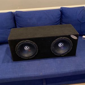 2 Memphis 10in Speakers in a Box with Amp for Sale in Los Angeles, CA