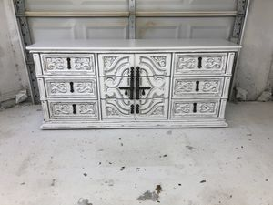 Farmhouse cottage shabby chic rustic vintage French provincial country dresser cabinet console buffet for Sale in Southlake, TX