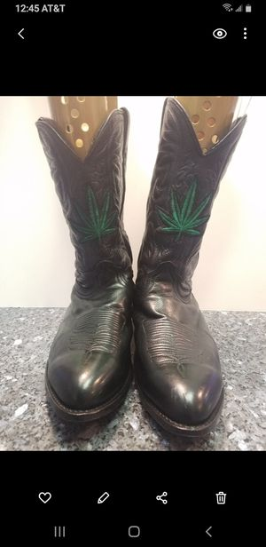 Custom Cannabis Cowboy boots. Size 14 for Sale in Denver, CO